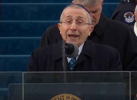 Rabbi Marvin Hier delivered a prayer at the Inauguration of US President Donald J. Trump on Jan. 20 2017