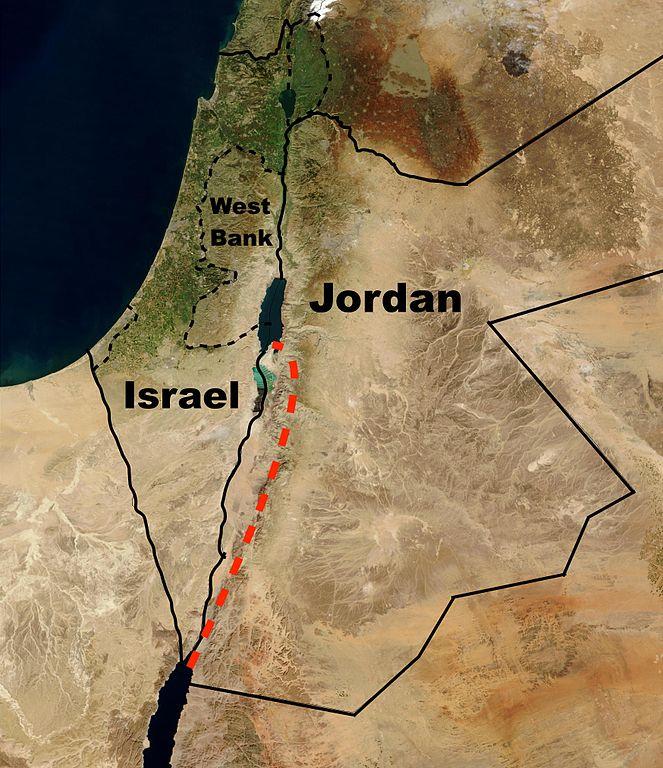 Red Sea - Dead Sea Canal map, December 3, 2016 / Makeandtoss via Wikimedia