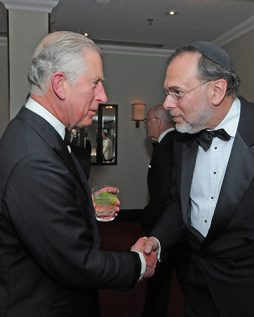 Matthew Miller with Prince Charles