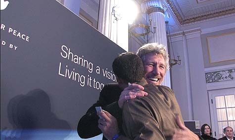 Roger Waters at a fundraising event for Cinema Jenin
