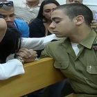 Sergeant Elor Azaria in court. / Screenshot
