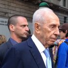 Former president Shimon Peres visiting New York City