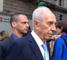 Former president Shimon Peres visiting New York City