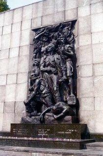 Monument to the Warsaw Ghetto Uprising fighters.
