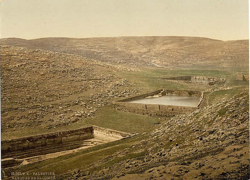 Solomon's Pools circa 1900 / Photo credit: Unknown via Wikimedia