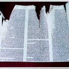 Shearith Israel Torah Scroll - Vandalized by the British during the Revolutionary War.
