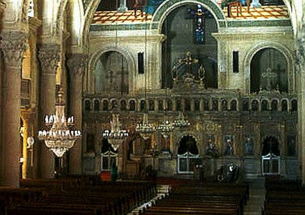 WikimediaSt. Mark's Coptic Orthodox Cathedral in Alexandria Egypt
