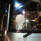 A bus stoned near Beitar Illit - Jan. 31, 2017