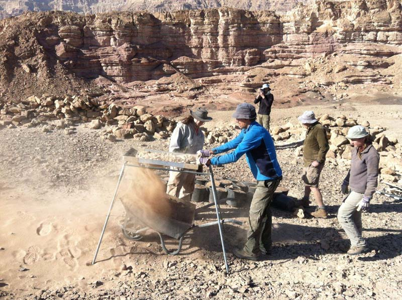 The Timna excavations site / Photo credit: Erez Ben-Yosef, Tel Aviv University