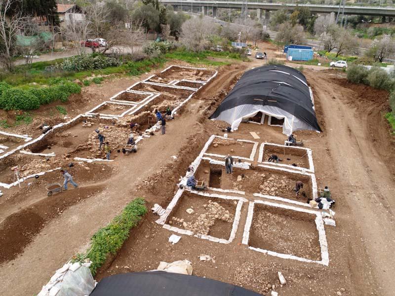 Enormous Prehistoric Settlement Exposed in Roadwork near Jerusalem