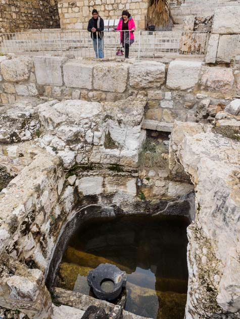 The mikvah path at the Davidson Center Archaeological Park