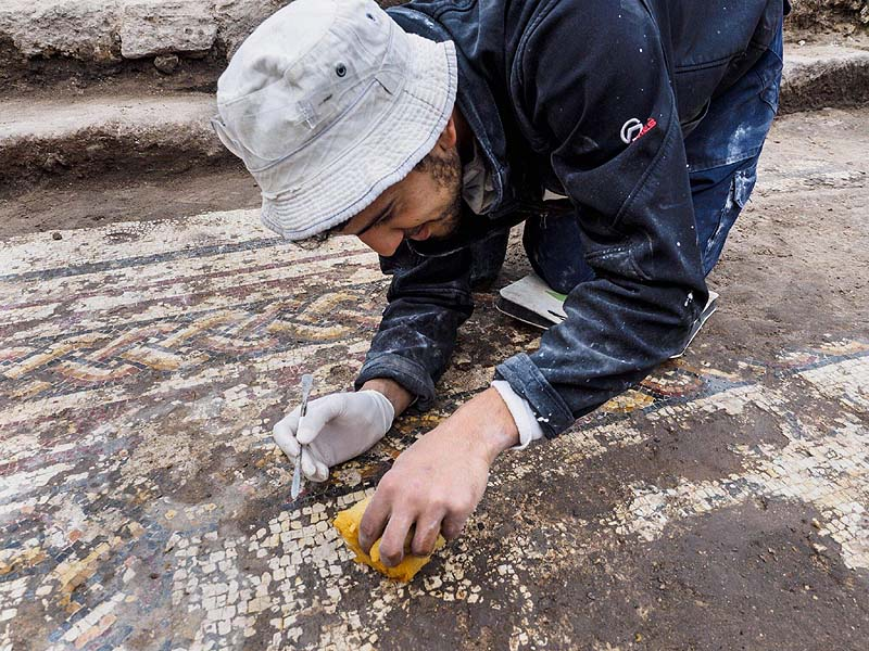 Israeli Archaeologists Uncover Mosaic, Ancient Shopping Mall in Caesarea