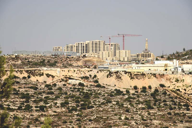 The new Arab city of Rawabi / Photo credit: Regavim