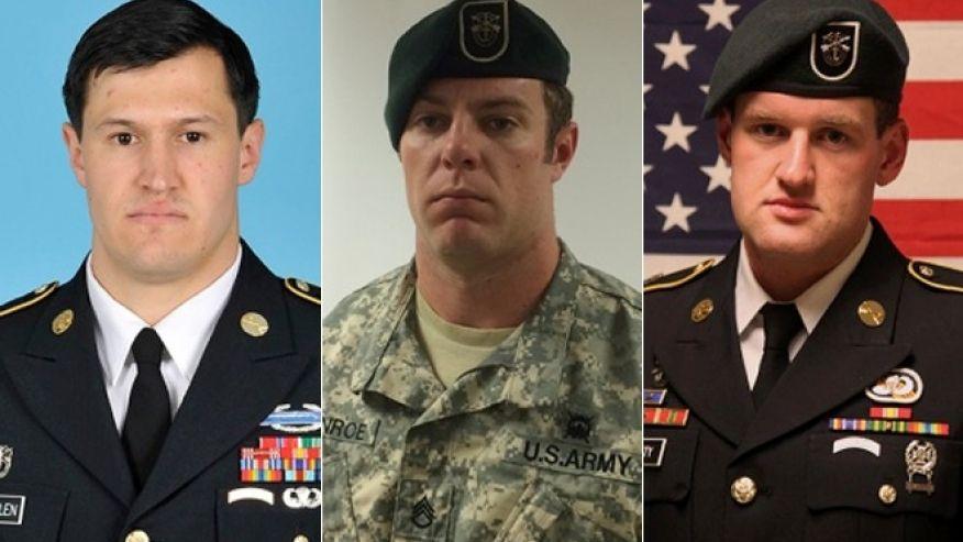 Staff Sgt. Matthew C. Lewellen, Staff Sgt. Kevin J. McEnroe, Staff Sgt. James F. Moriarty.