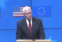 US Vice President Mike Pence addresses European Council, Feb. 20, 2017