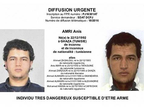 Wanted poster for Anis Amri