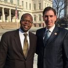 Brooklyn DA Ken Thompson, NY City Council member Chaim Deutsch.