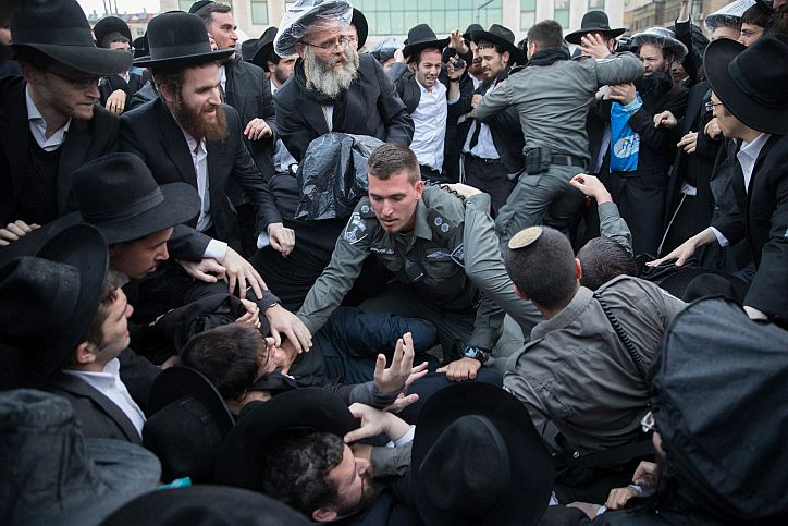 Israeli police arrest 36 ultra-Orthodox in Jerusalem