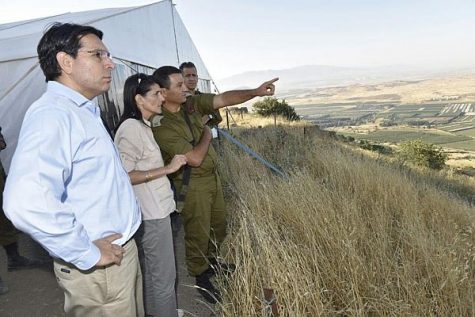 U.S. Ambassador to the United Nations Nikki Haley at Israel's northern border with Israeli Ambassador to the UN Danny Danon. June 08, 2017.