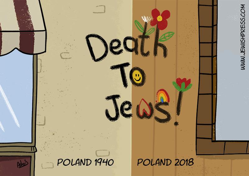Polish embassy in Tel Aviv defaced with swastikas
