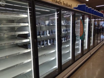 After Tropical Storm Harvey left a trail of destruction in its wake, store shelves are still empty in  numerous parts of Houston, including those selling kosher food.