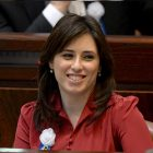 The 19th Knesset swearing in ceremony at the Knesset Plenum in Jerusalem. MK Tzipi Hotovely (Likud)